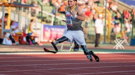 Holte bei der Para-WM über 200 Meter Bronze: Ali Lacin. Foto: Jens Büttner/zb/dpa