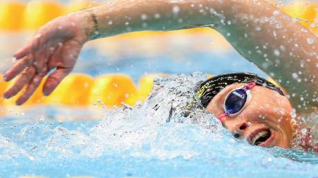Schwamm Weltrekord über 1500 Meter bei der Kurzbahn-DM:Sarah Köhler.