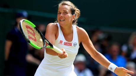 Trennt sich von ihrem Trainer: Barbora Strycova in Aktion.