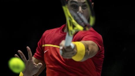 Hielt Spanien gegen Russland im Spiel: Rafael Nadal. Foto: Bernat Armangue/AP/dpa