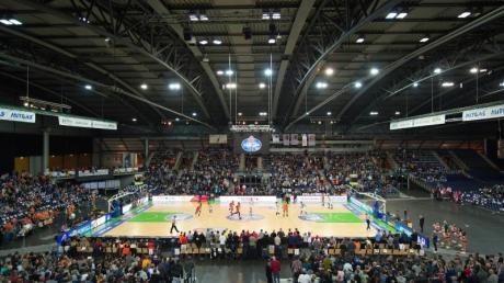 Der Mitteldeutsche BC weicht bei Topspielen in die Arena Leipzig aus. Foto: Sebastian Kahnert/zb/dpa