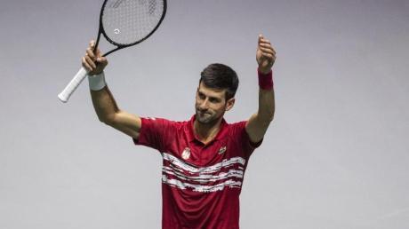 Hat Serbiens Team ins Viertelfinale geführt: Novak Djokovic.