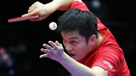 Hat erneut den World Cup im Tischtennis gewonnen: Fan Zhendong aus China in Aktion.