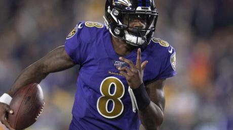 Quarterback Lamar Jackson führte seine Baltimore Ravens erneut zum Sieg.