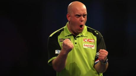 Titelverteidiger und Topfavorit bei der Darts-WM in London: Michael van Gerwen.