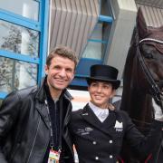 Ein sportliches Ehepaar:Reiterin Lisa Müller und Ehemann Thomas.