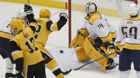 Die Pittsburgh Penguins besiegten die Nashville Predators mit 6:4.