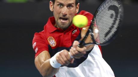 Hat beim ATP Cup mit Serbien einen starken Auftritt: Novak Djokovic in Aktion.
