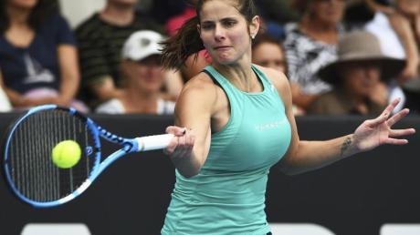 Julia Görges hatte in Auckland keine Mühe mit der Schweizerin Jil Teichmann.