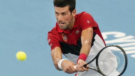 Steht mit Serbien im Halbfinale des ATP Cups: Novak Djokovic.