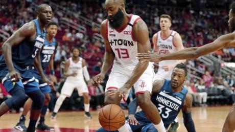 Erzielte gegen Minnesota ein Jubiläum: Rockets-Star James Harden.