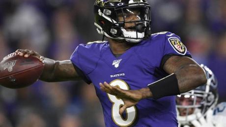 Hat mit den Baltimore Ravens das NFL-Halbfinale verpasst: Lamar Jackson.