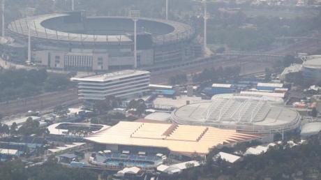 Schlechte Luft über der Rod-Laver-Arena in Melbourne.