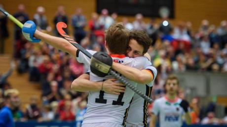 Auf Medaillenkurs: Deutschlands Hockey-Herren stehen im Halbfinale der Hallen-EM.