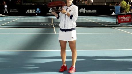 Die Australierin Ashleigh Barty hat das Turnier in Adelaide gewonnen.