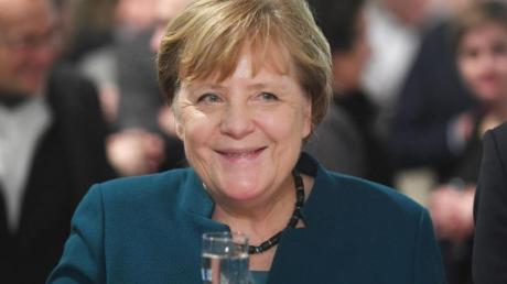 Hofft auf einen Sieg der deutschen Handballer: Bundeskanzlerin Angela Merkel.