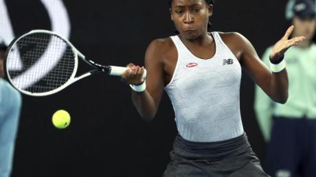 Setzt sich gegen Venus Williams durch: Cori Gauff in Aktion.