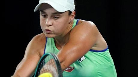 Hat die zweite Runde der Australian Open erreicht: Ashleigh Barty in Aktion.