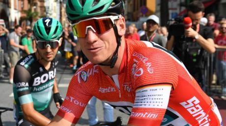 Sprinter Pascal Ackermann trug im vergangenen Jahr bei der Deutschland-Tour das rote Trikot.