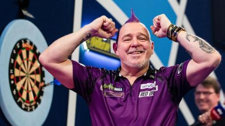 Dartsspieler Peter Wright ist der amtierende Weltmeister.
