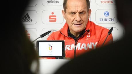 Auch DOSB-Präsident Alfons Hörmann ist gegen ein «Quarantäne-Trainingslager».