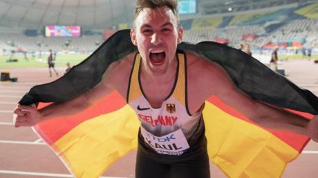 Trainiert auch zuhause fleißig weiter: Zehnkampf-Weltmeister Niklas Kaul.