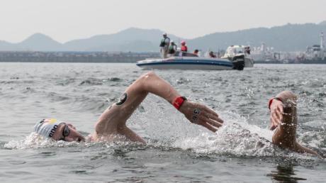 Freiwasserschwimmer Florian Wellbrock in Aktion.