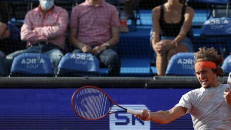 In Belgrad waren auch Zuschauer beim Spiel von Alexander Zverev zugelassen.