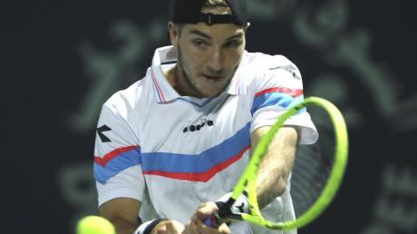 Jan-Lennard Struff wird beim Turnier in Kitzbühel aufschlagen.