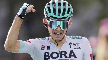 Der bisher größte Erfolg seiner Karriere: Lennard Kämna gewann die 16. Etappe der Tour de France.