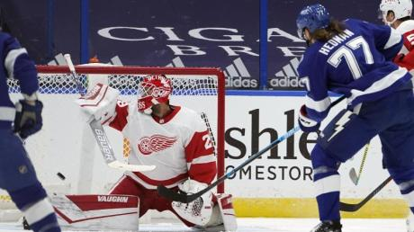 Auch der gut aufgelegte Goalie Thomas Greiss konnte die Niederlage der Detroit Red Wings gegen Tampa Bay Lightning nicht verhindern.