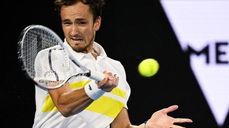 Hat sich auf Platz zwei der ATP-Weltrangliste verbessert: Daniil Medwedew in Aktion.