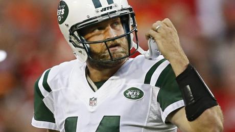 Ryan Fitzpatrick, Quarterback in der NFL, reagiert nach einem Pass.