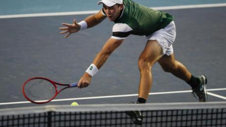 Hat sich für das Masters-Tennisturnier in Monte Carlo qualifiziert: Dominik Koepfer in Aktion.