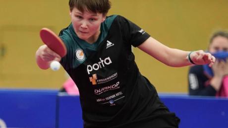 Sicherte sich mit Berlin erneut den Meistertitel im Tischtennis: Nina Mittelham.