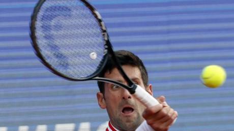 Tritt nicht beim Turnier in Madrid an: Novak Djokovic in Aktion.