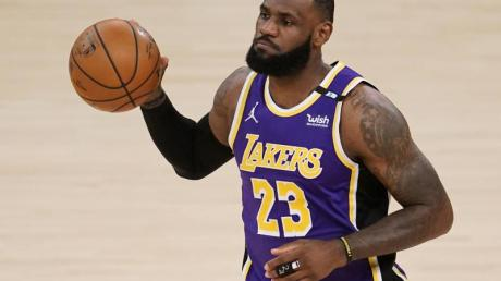Wieder zurück auf dem Parkett: LeBron James von den Los Angeles Lakers.