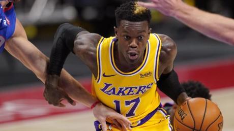 Dennis Schröder von den Los Angeles Lakers in Aktion.