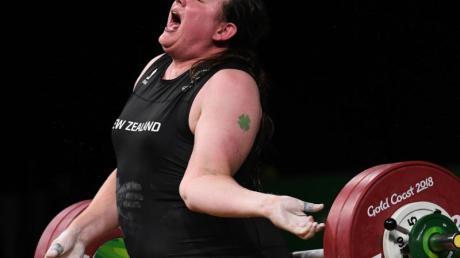 Die Neuseeländerin Laurel Hubbard 2018 bei den Commonwealth Games.