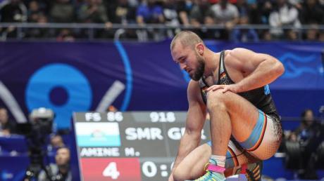 Der deutsche Ringer Ahmed Dudarov schied beim Qualifikationsturnier in Sofia im Achtelfinale aus.