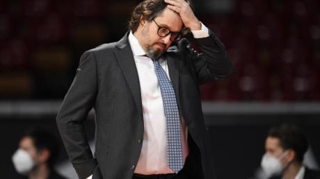 Trainer Andrea Trinchieri und seine Bayern mussten gegen Ulm eine herbe Niederlage einstecken.