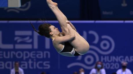 Wasserspringerin Tina Punzel gewann in Budapest Gold vom Drei-Meter-Brett.