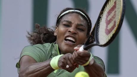 Kämpfte sich bei den French Open in Runde drei: Serena Williams in Aktion.