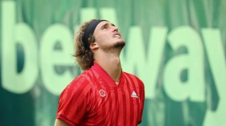 Alexander Zverev verlor in Halle überraschend.