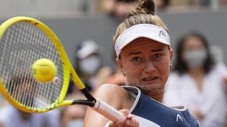 Müht sich nach ihrem French-Open-Titel ins Achtelfinale:Barbora Krejcikova.