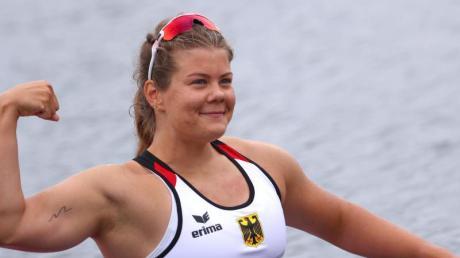 Holte Bronze im Kanu-Sprint über 200 Meter: Felicia Laberer.