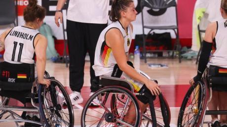Enttäuschte Gesichter:Rollstuhl-Basketballerinnen unterlagen bei den Paralympics im Spiel umBronze den USA.