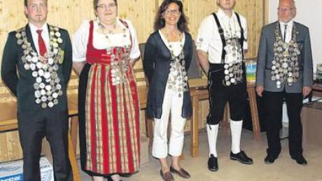 Die Schützenkönige des Gaus Neu-Ulm, die beim Gauschießen bei der Schützenvereinigung Nersingen-Leibi ermittelt wurden.