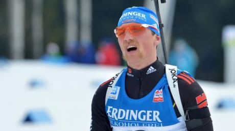 Erik Lesser war im Verfolgungsrennen als 14. bester Deutscher. Foto: Martin Schutt