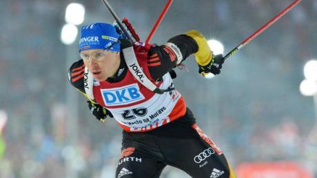 Andreas Birnbacher schaffte es beim Rennen über 20 Kilometer in die Top Ten. Foto: Martin Schutt